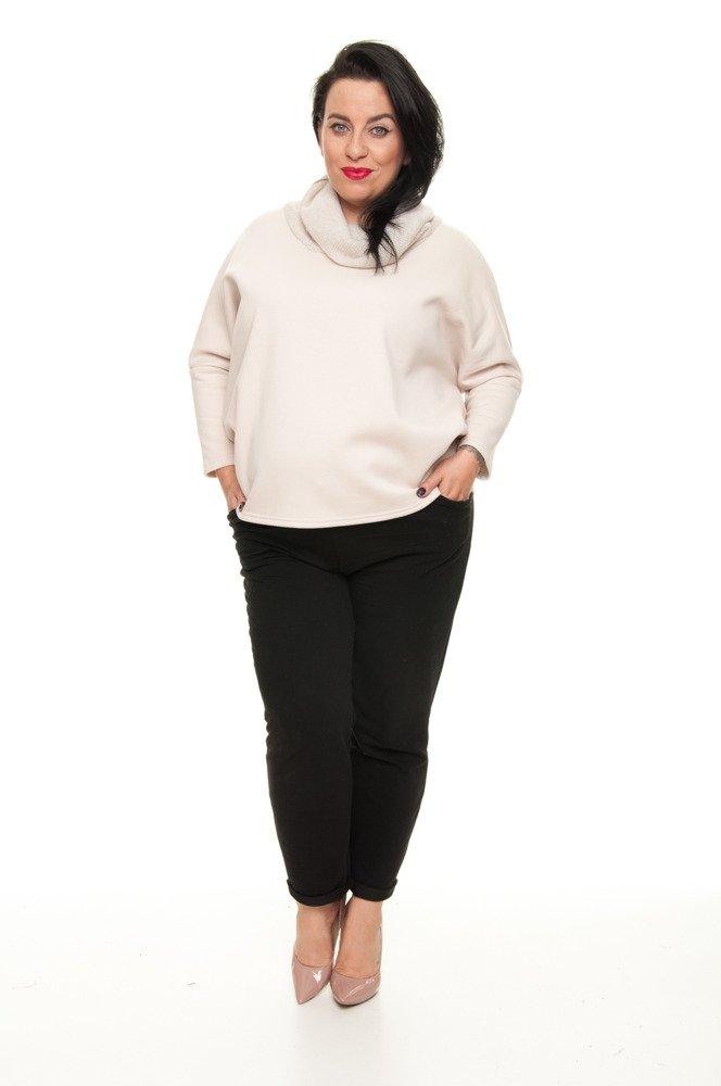 Beżowy Sweter LANA Golf Oversize Kimono