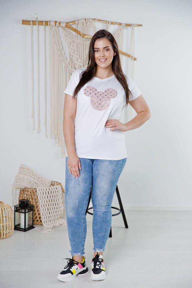 Biała Bluzka LOUIS Plus Size