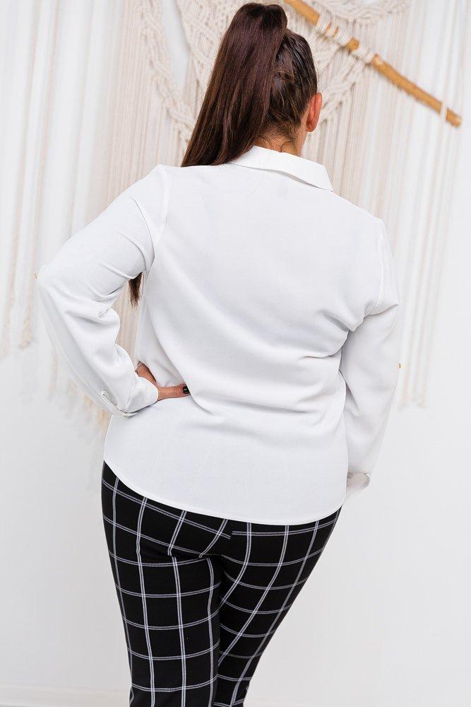 Biała Bluzka RONPI Plus Size