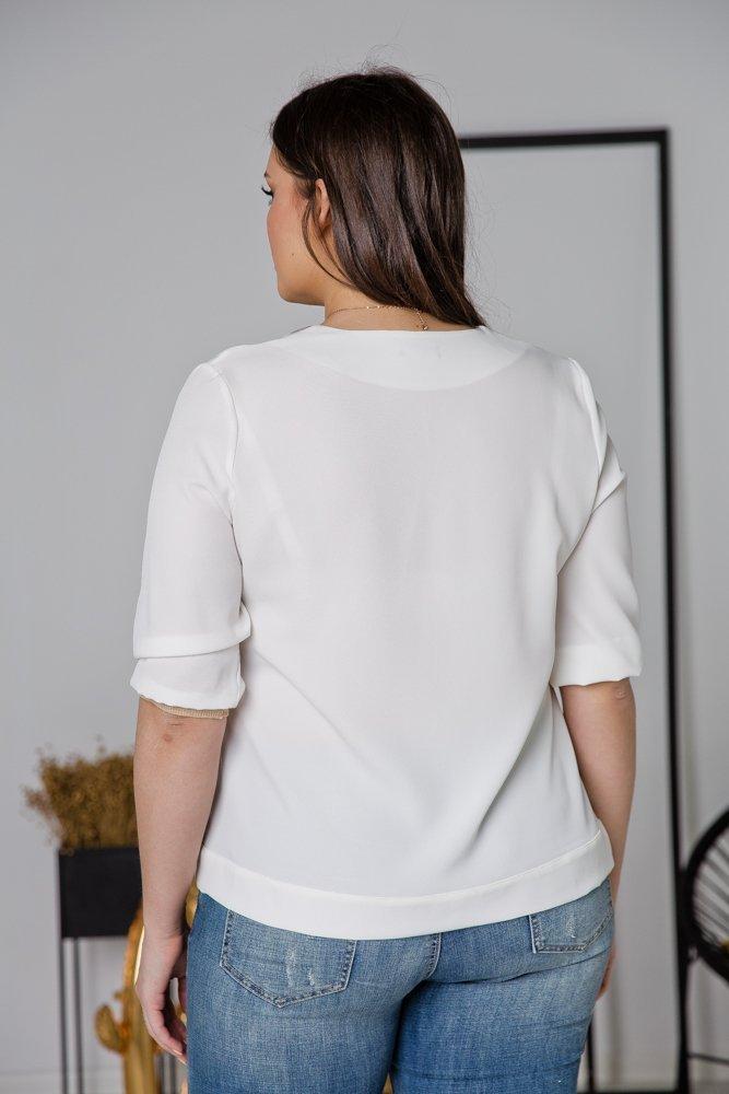 Biała  Bluzka VIRGINIA Plus Size