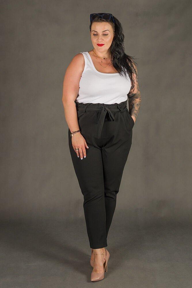 Biała Bluzka damska B38 Plus Size