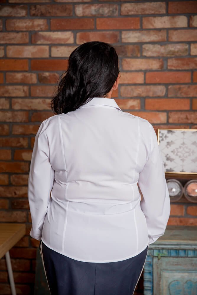 Biała Koszula LIVIA Plus Size