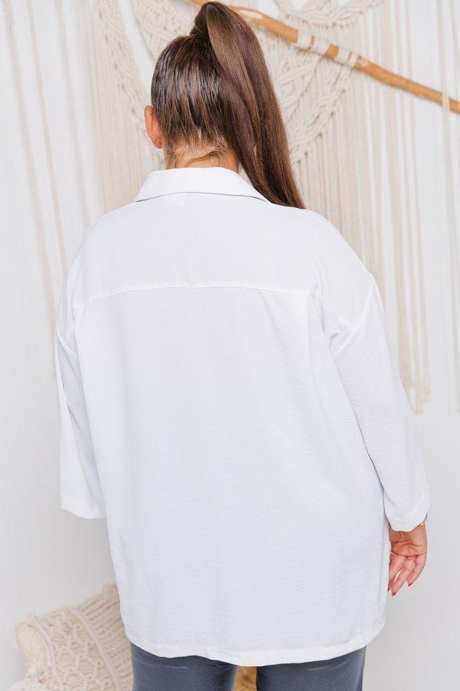 Biała Koszula SOMENA Plus Size