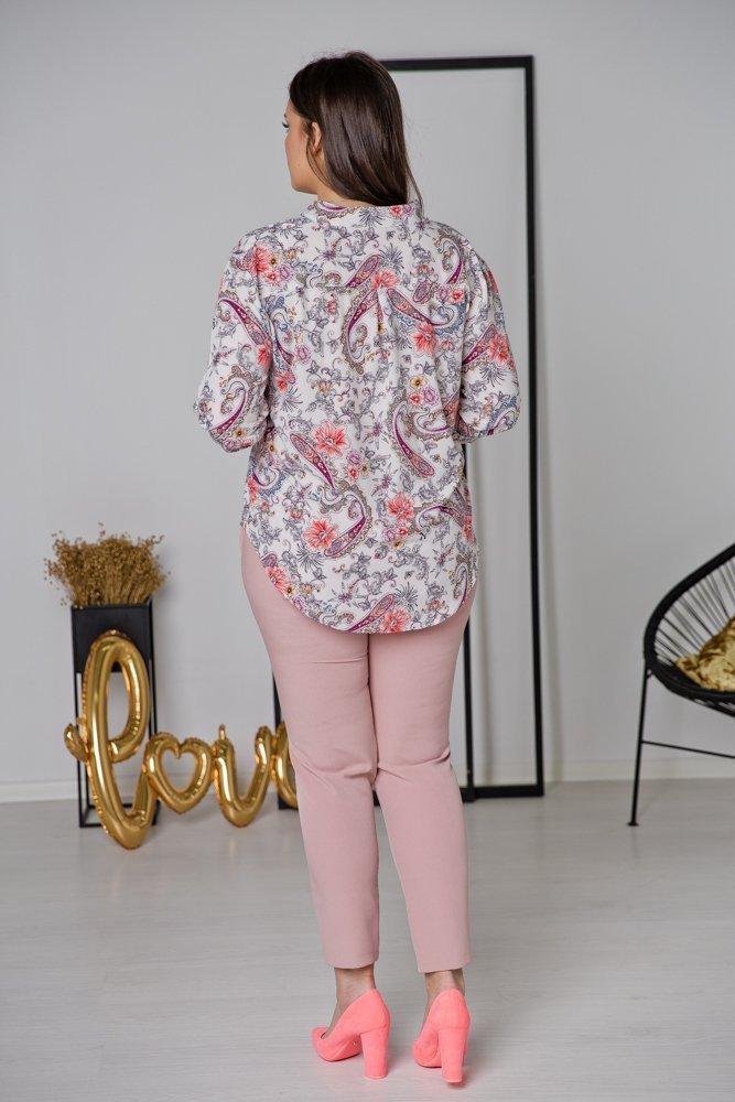 Biała Koszula TONI Plus Size Wzór 1