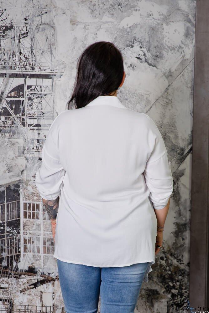Biała Koszula VAREGA Plus Size
