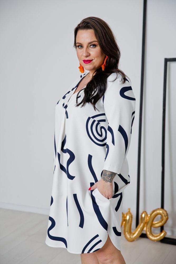 Biała Tunika ATTIMA Plus Size