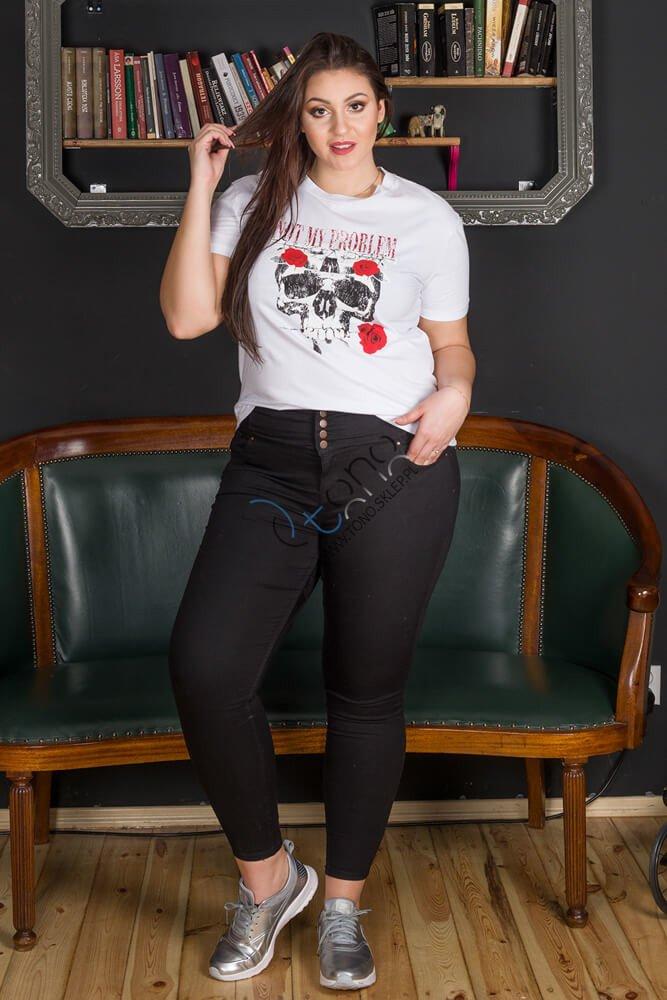 Biała bluzka damska PLAIN T-shirt XXL