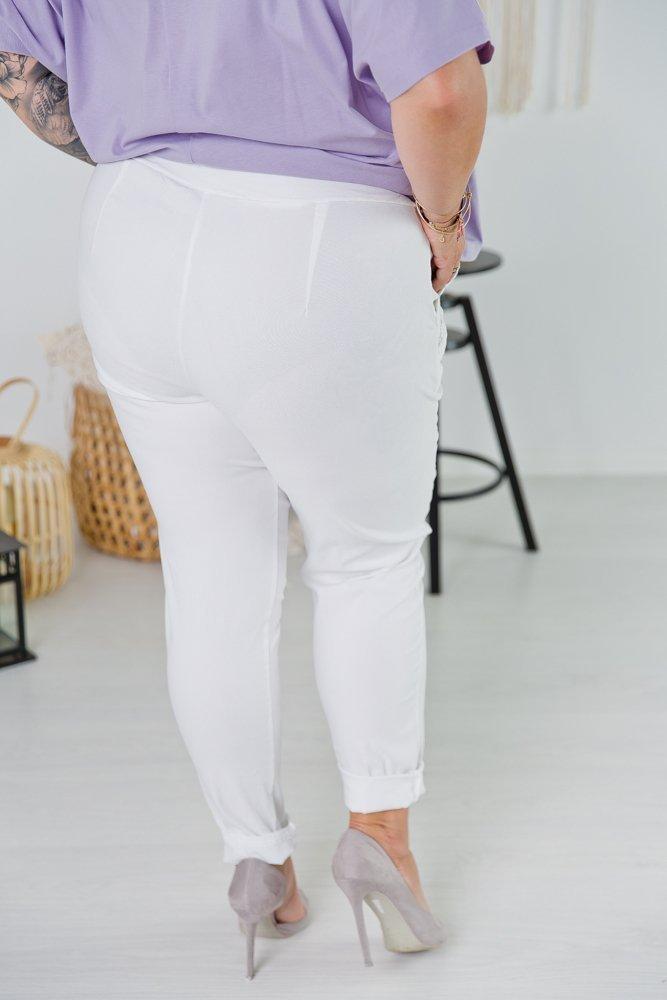 Białe Spodnie ACTIV Plus Size