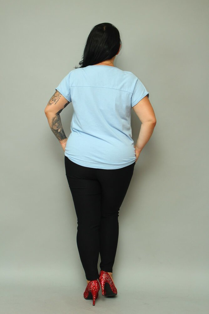 Błękitna Bluzka damska BETTER Plus Size