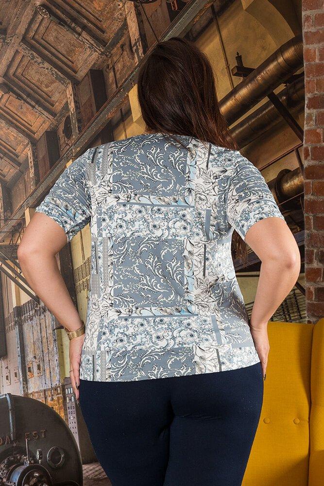 Bluzka ALBINA Kwiaty Plus Size wzór 4