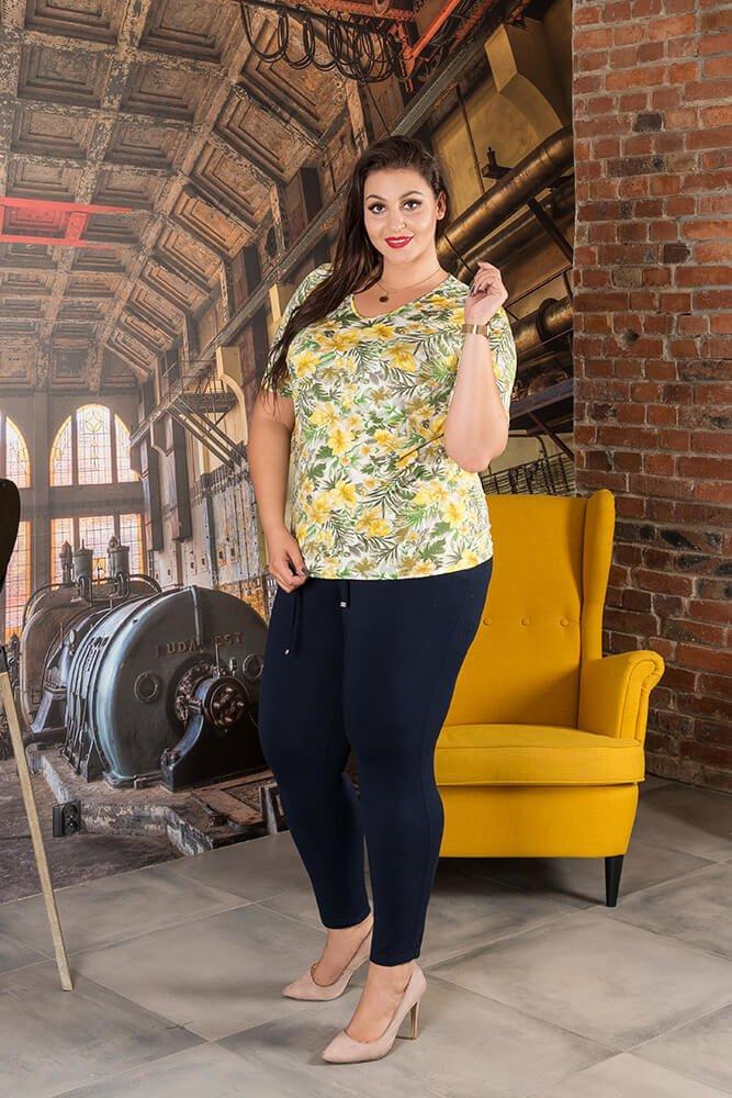 Bluzka ALBINA Kwiaty Plus Size wzór 5
