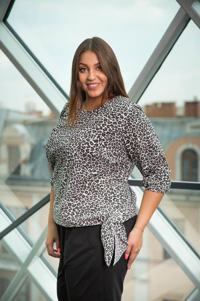 Bluzka CREMONA Panterka Plus Size wzór 2