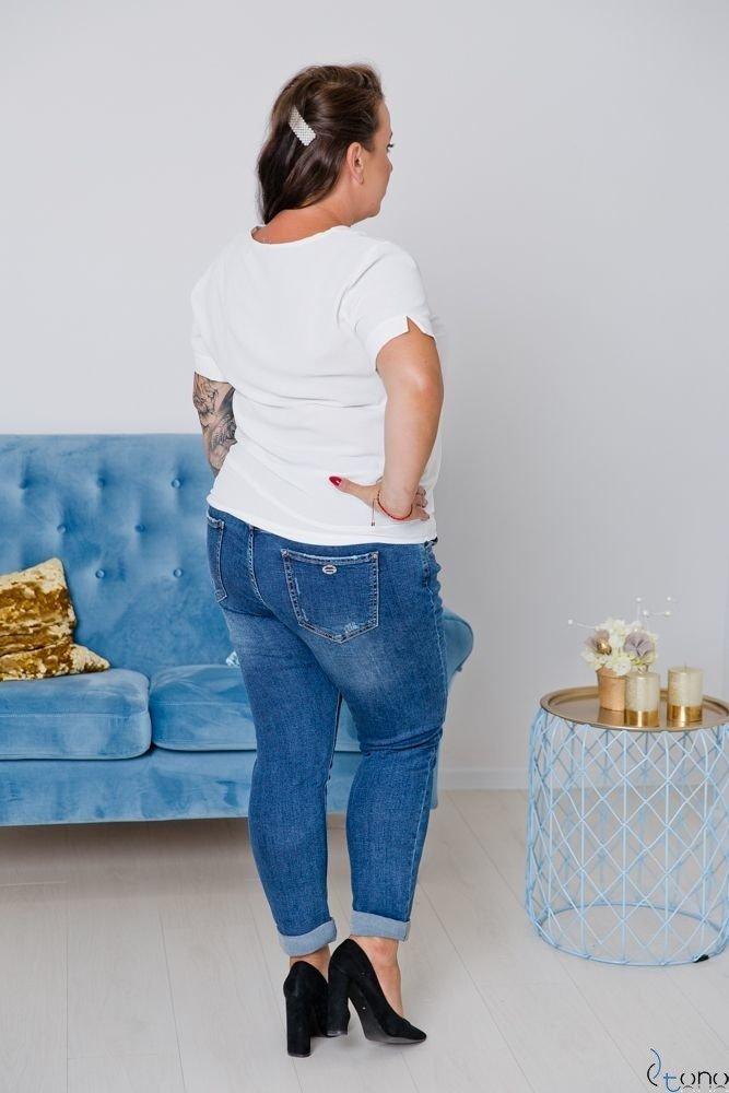 Bluzka Ecru MIKELA Plus Size