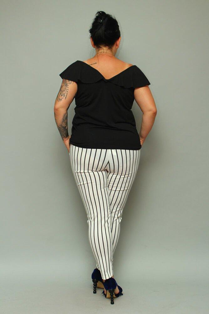 Czarna Bluzka damska FILONA Plus Size