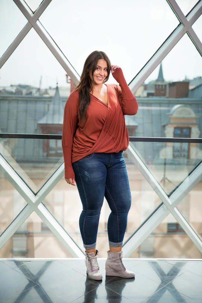 Bluzka SENTIA Ruda Plus Size