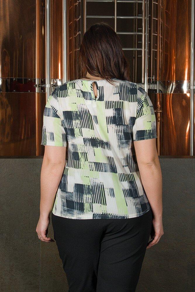 Bluzka damska ALINA duże rozmiary Koszulowa Wzór 3