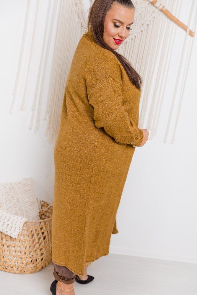 Brązowy Kardigan BERNA Plus Size