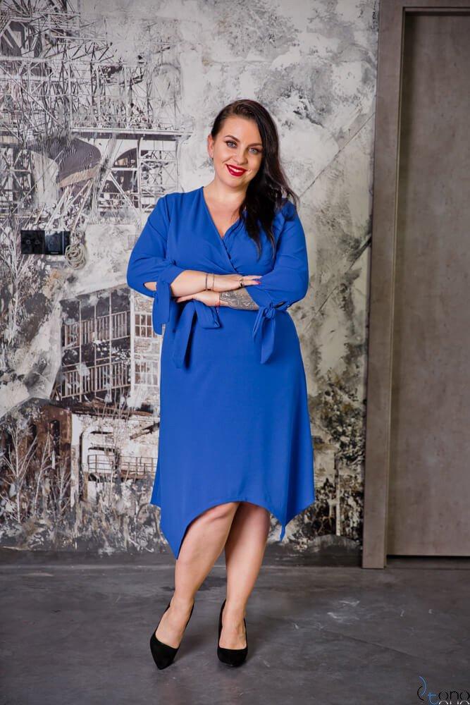 Chabrowa Sukienka NASTYA Plus Size