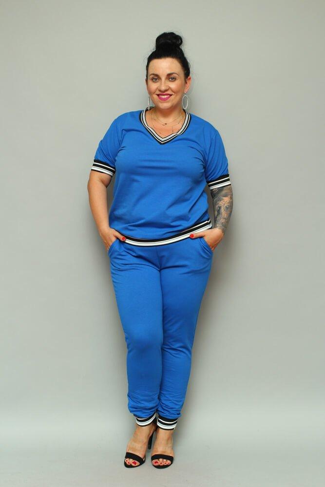 Chabrowe Spodnie NILDA Dresowe Plus Size