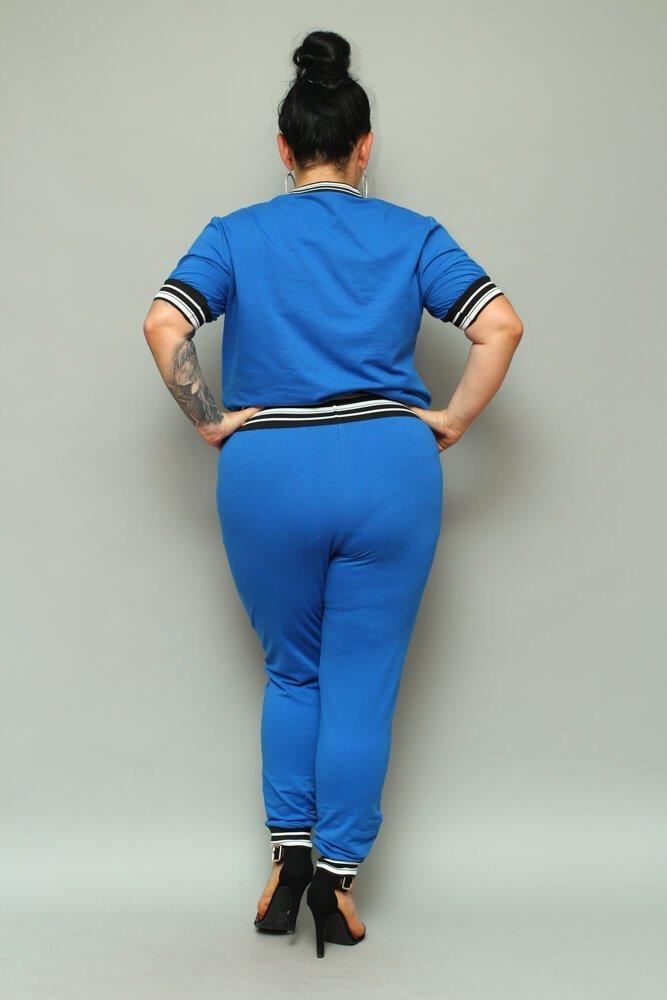 Chabrowy Komplet Dresowy NILDA Plus Size