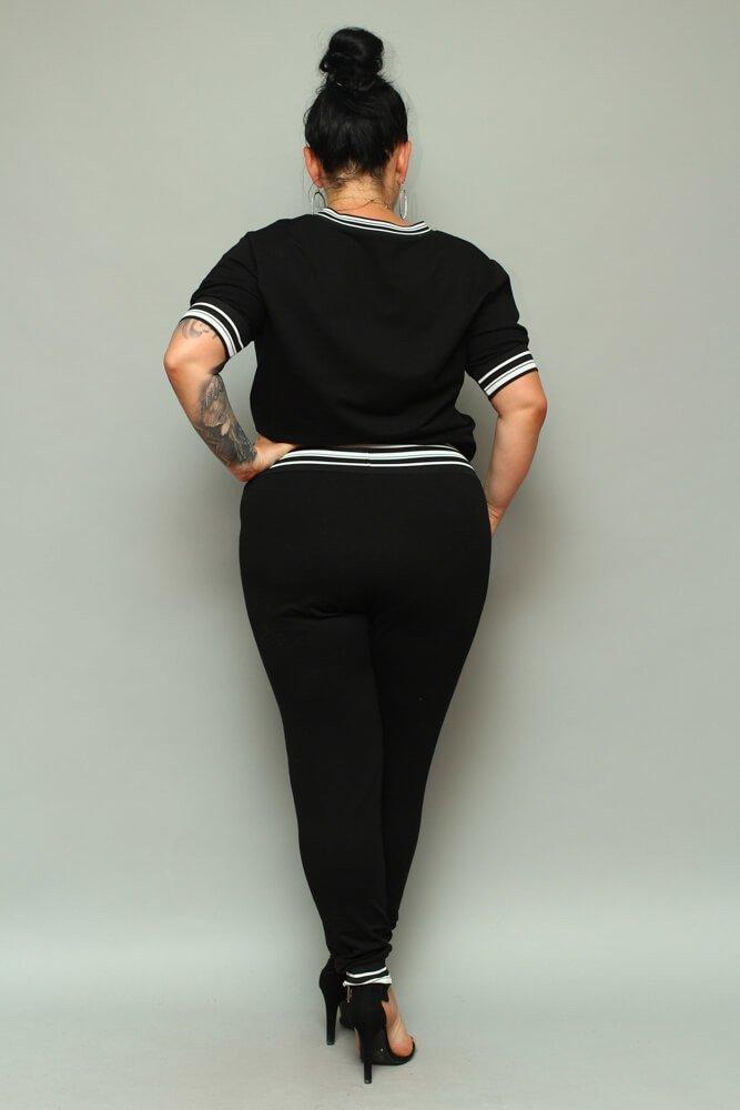 Czarna Bluza NILDA Plus Size Dresowa