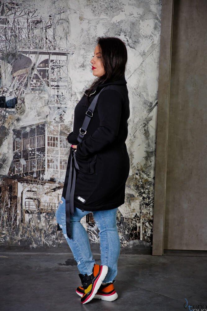 Czarna Bluza OLVIDA Plus Size Casual