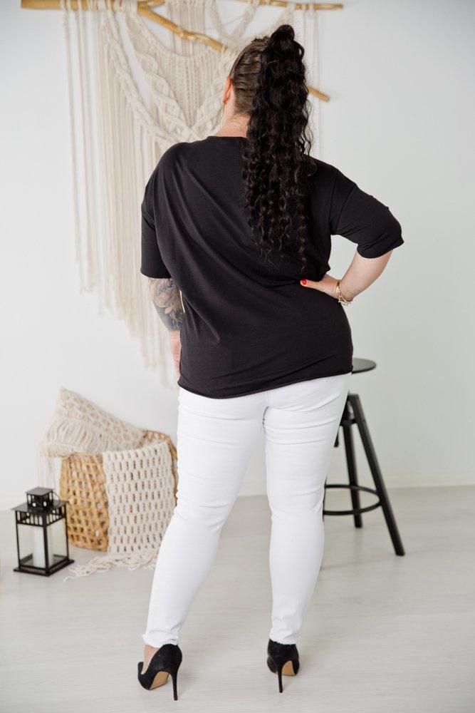 Czarna Bluzka AGLO Plus Size