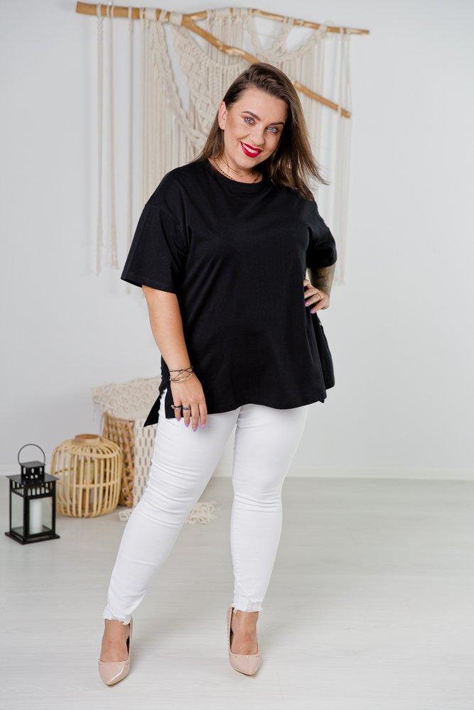 Czarna Bluzka BALOON Plus Size