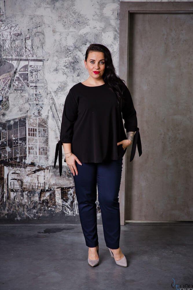 Czarna Bluzka BATLES Plus Size