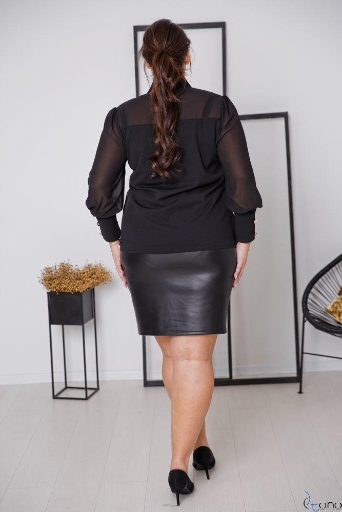 Czarna Bluzka BJONDA Plus Size