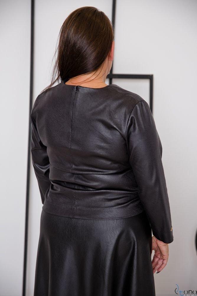 Czarna Bluzka CANDIA Plus Size