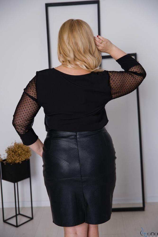 Czarna Bluzka SEVERIA Plus Size
