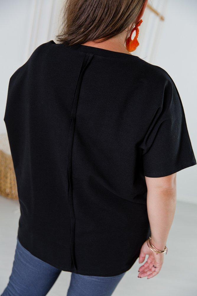 Czarna Bluzka VOCAL Plus Size
