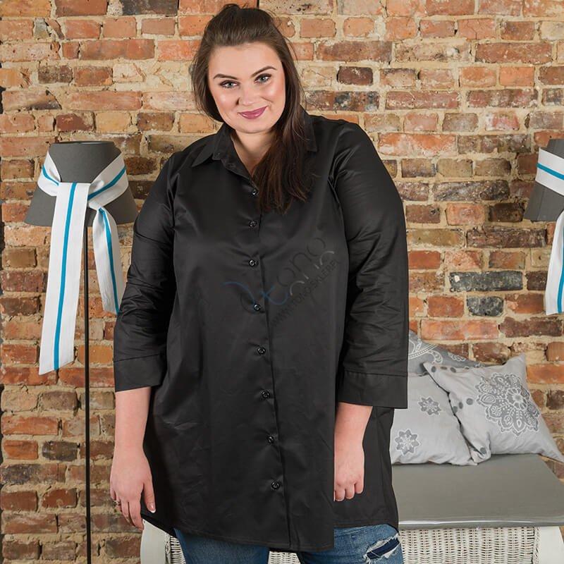 Czarna Koszula damska MICHELLE Bombka Size Plus