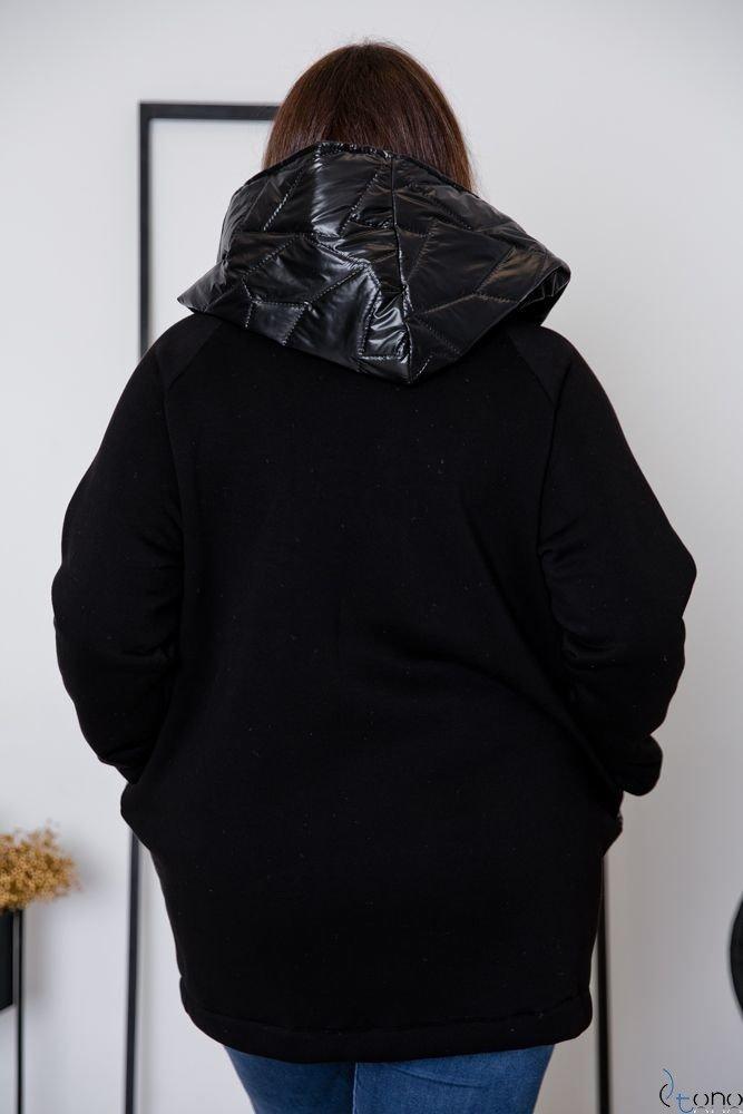 Czarna Kurtka PACKO Plus Size