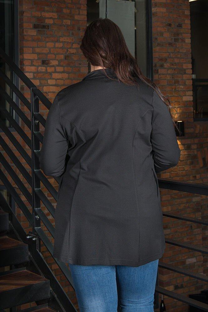 Czarna Marynarka damska Casual MARCIANA Plus Size