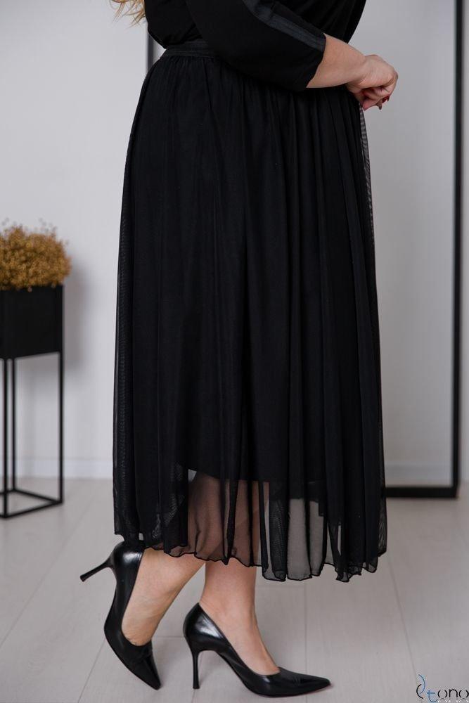 Czarna Spódnica GONNA Plus Size