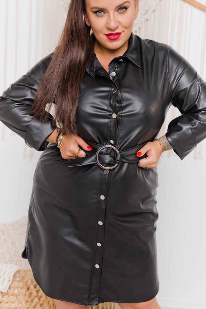 Czarna Sukienka BEFFANA Plus Size