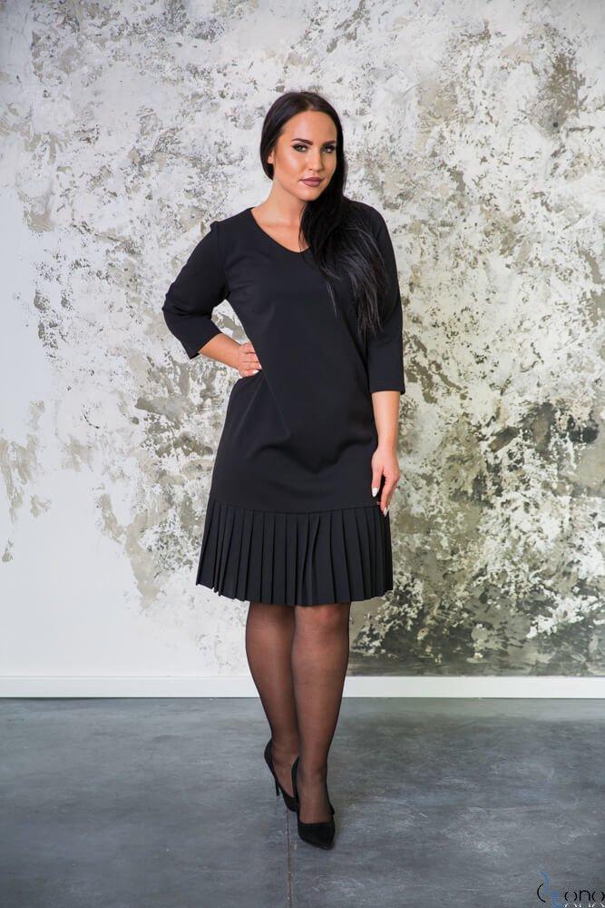 Czarna Sukienka CAMEA Plus Size