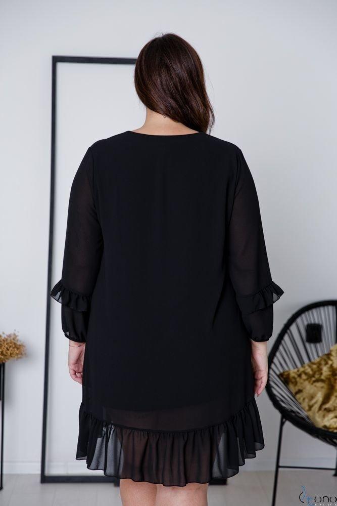 Czarna Sukienka CORTLAND Plus Size