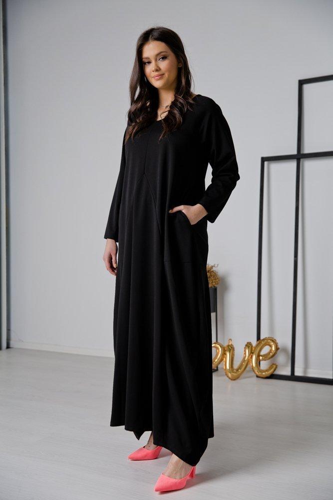 Czarna Sukienka LIRMA Plus Size