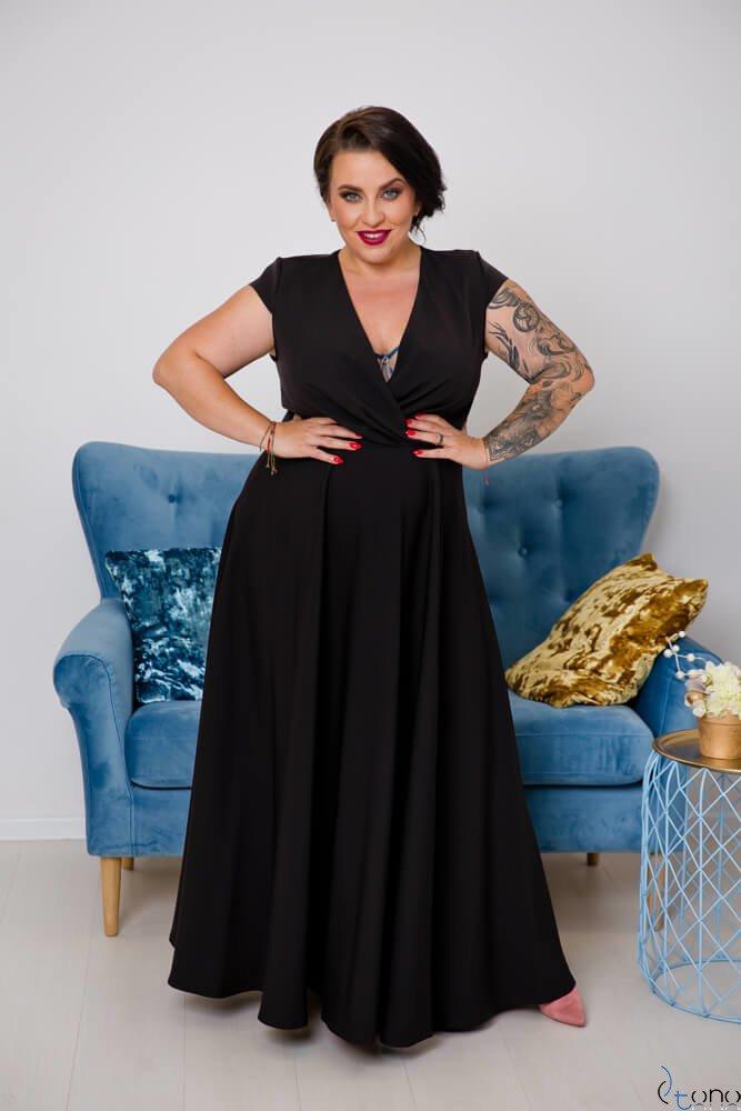 Czarna Sukienka LOREDANA Plus Size