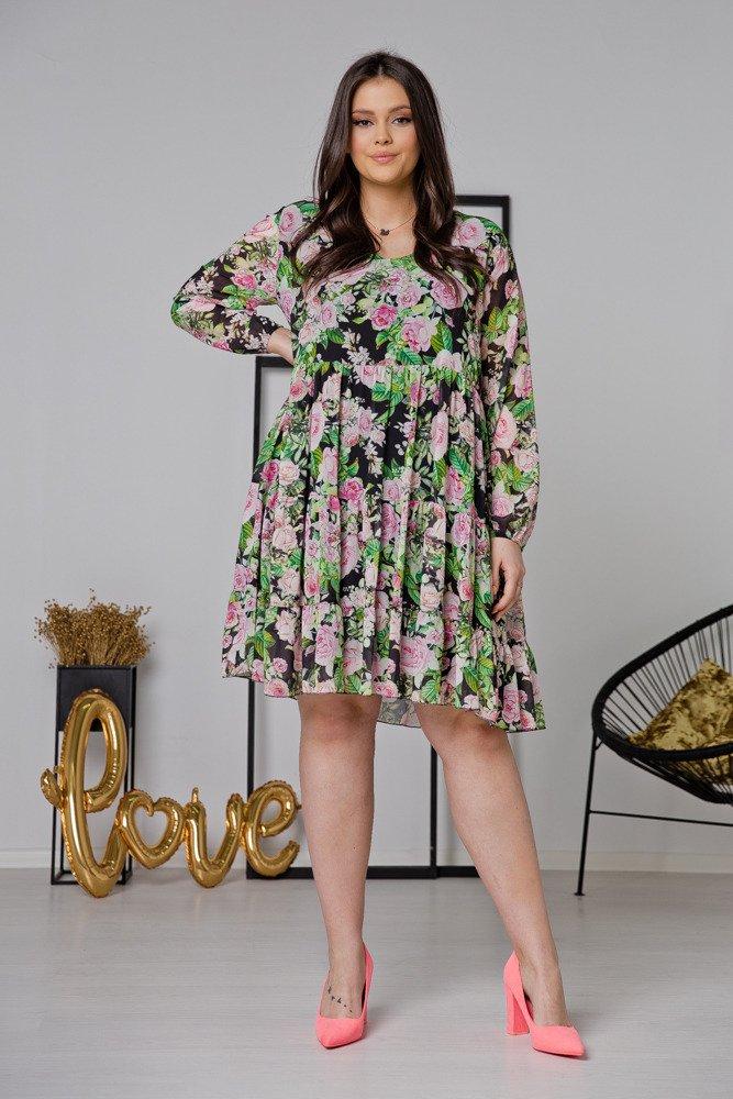Czarna Sukienka LUCENA Plus Size