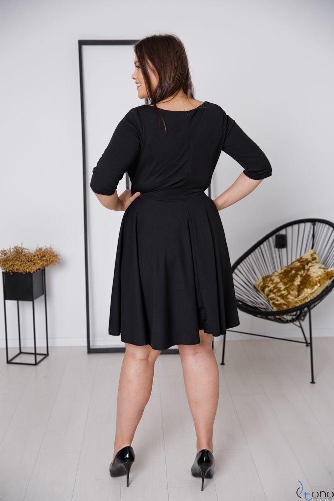 Czarna Sukienka OLINDA Plus Size
