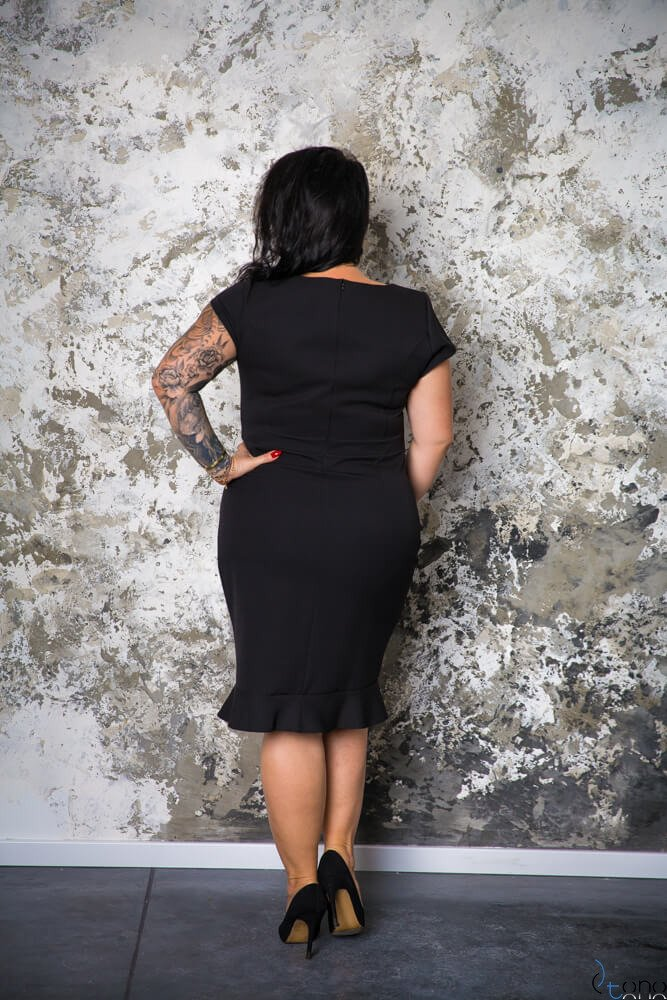 Czarna Sukienka PAOLA Plus Size