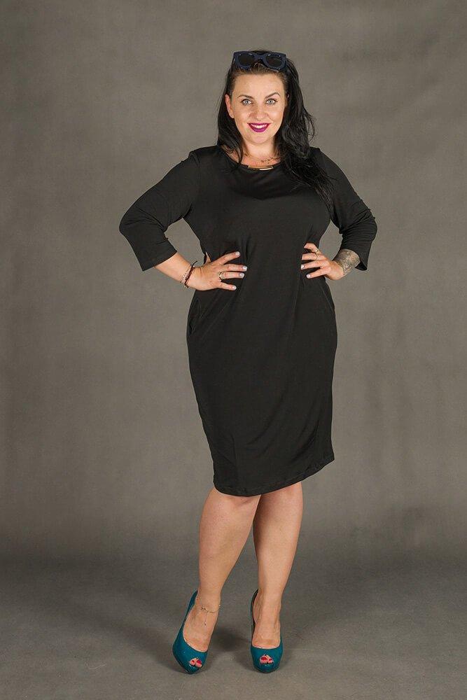 Czarna Sukienka RAISA-M Plus Size