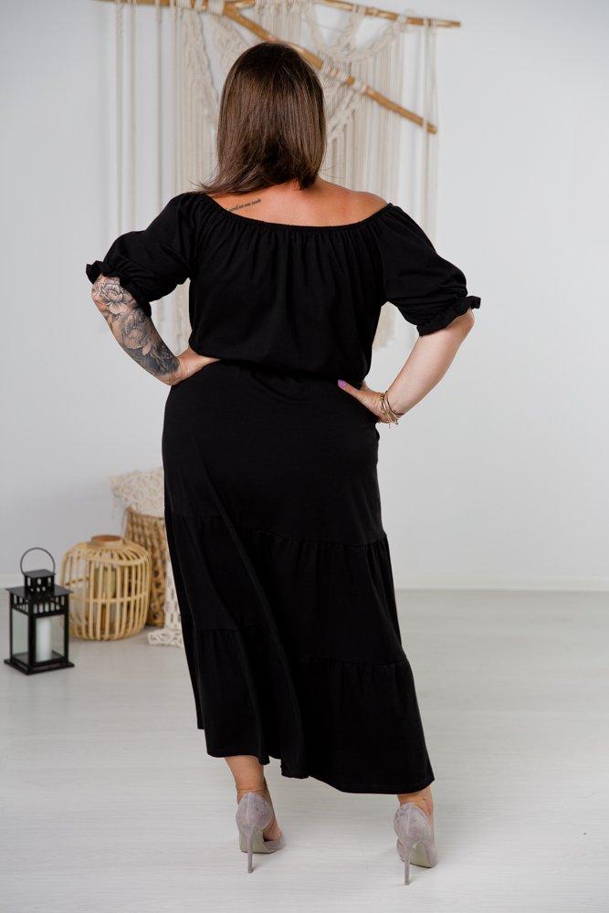 Czarna Sukienka SOFT Plus Size