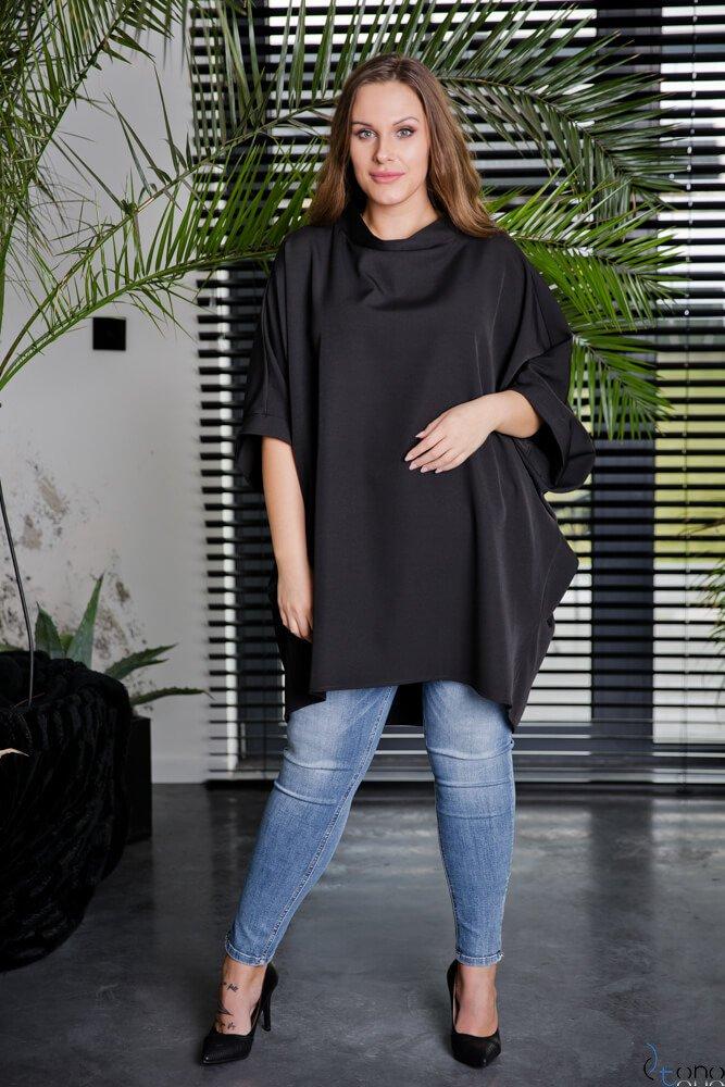 Czarna Tunika ESENTIAL Plus Size