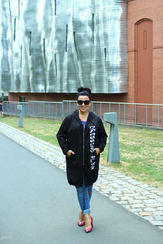 Czarna kurtka BOSTER Narzutka Plus Size