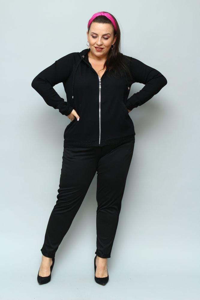Czarne Spodnie FERDI Plus Size